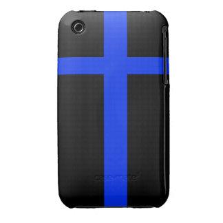 el iPhone 3G/3Gs enrarece la línea de policía azul Funda Para iPhone 3