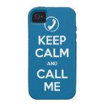 el iPhone 4 elige su color guarda calma y me llama Case-Mate iPhone 4 Carcasa