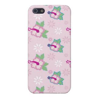 el iPhone 4 hibiscos florales del caso florece ros iPhone 5 Funda