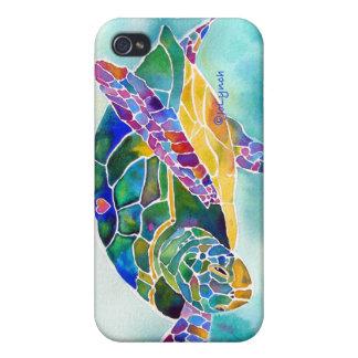 El iPhone 4and 4S de la tortuga de mar encajona y iPhone 4 Carcasa