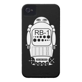 El iPhone 4s del robot encajona blanco y negro Carcasa Para iPhone 4