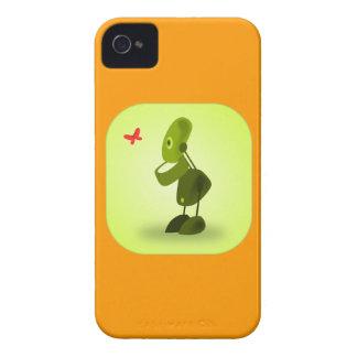 El iPhone 4s del robot encajona el naranja y el Case-Mate iPhone 4 Carcasa