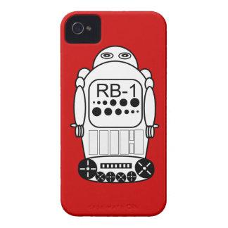 El iPhone 4s del robot encajona rojo y blanco iPhone 4 Case-Mate Carcasa