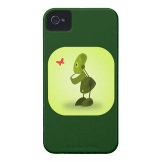 El iPhone 4s del robot encajona verde Carcasa Para iPhone 4