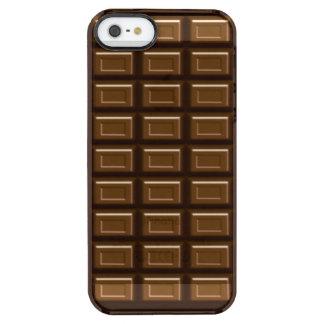 El iPhone 5/5S de la barra de chocolate despeja el Funda Clearly™ Deflector Para iPhone 5 De Uncommon