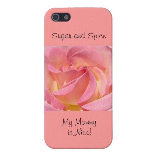 el iPhone 5 encajona la especia color de rosa rosa iPhone 5 Funda