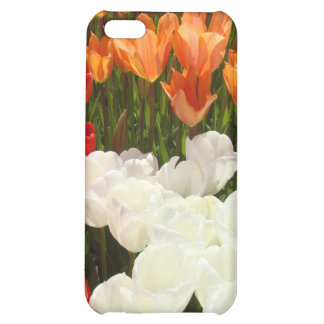 el iPhone 5 encajona las flores blancas anaranjada