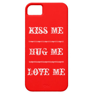 el iPhone 5 me besa, me abraza, me ama Funda Para iPhone 5 Barely There