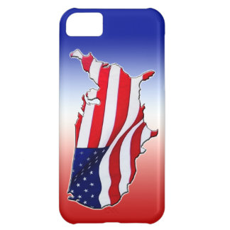 El iPhone 5C de la bandera americana encajona y cu