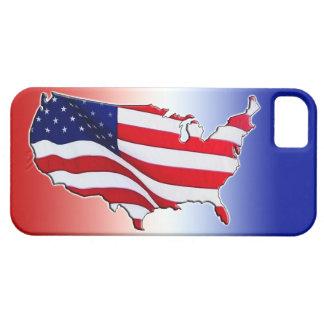 El iPhone 5S de la bandera americana encajona y cu iPhone 5 Case-Mate Fundas