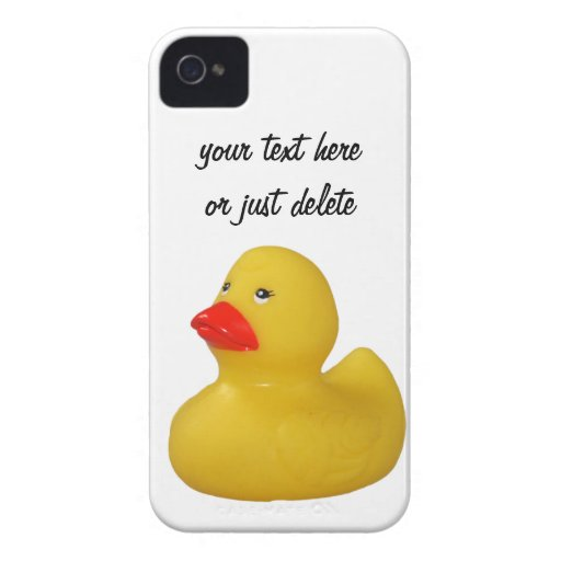 El iphone de encargo 4 del pato de la diversión de Case-Mate iPhone 4 funda