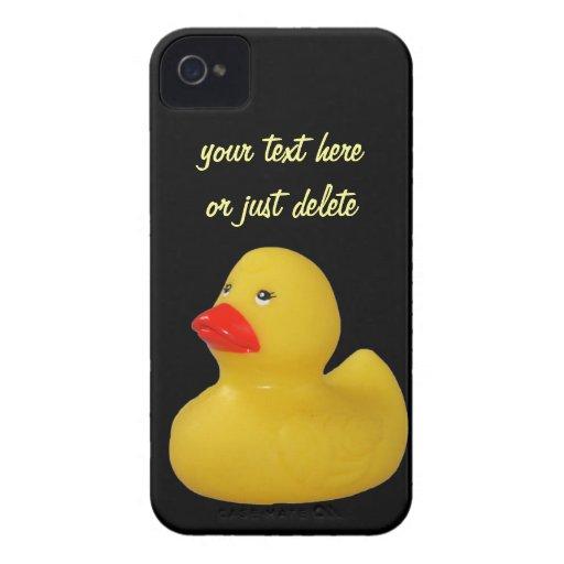 El iphone de encargo 4 del pato de la diversión de iPhone 4 Case-Mate coberturas