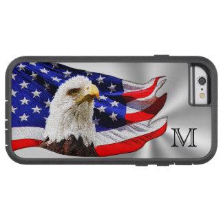 El iPhone de la bandera americana encajona con Funda Para iPhone 6 Tough Xtreme
