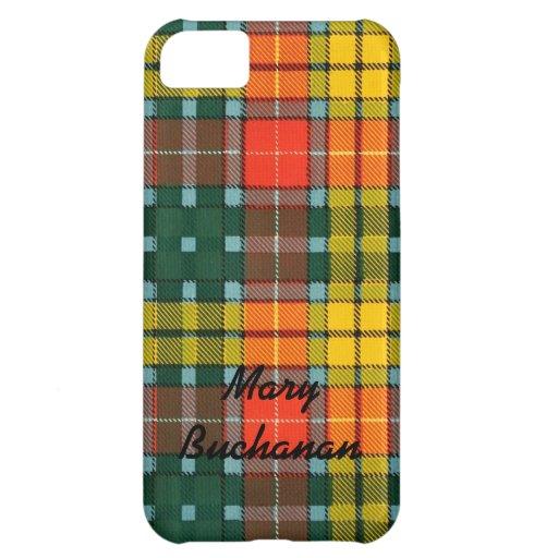 El iPhone de la tela escocesa de tartán de Buchana Funda Para iPhone 5C
