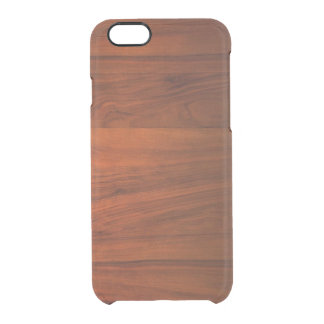 El iPhone de madera 6/6S de la cereza despeja el Funda Clearly™ Deflector Para iPhone 6 De Uncommon