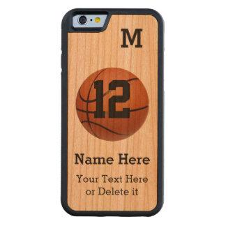 El iPhone de madera 6 encajona baloncesto con 4 Funda De iPhone 6 Bumper Cerezo