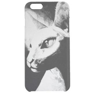 El iPhone felino 6 del arte del gato de Sphynx+ Funda Clearly™ Deflector Para iPhone 6 Plus De Unc