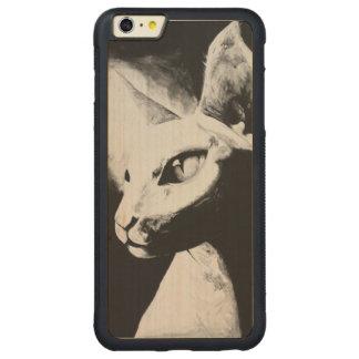 El iPhone felino 6 del arte del gato de Sphynx+ Funda De Arce Bumper Carved® Para iPhone 6 Plus