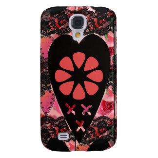 El iPhone floral del corazón y de los besos encaj