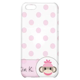 El iPhone lindo 4 casos por el calcetín Monkey Sho