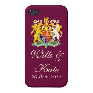 El iPhone real del boda de Guillermo y de Kate enc iPhone 4 Cárcasas