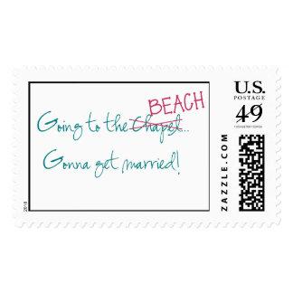 El ir a la capilla/al sello del boda de playa