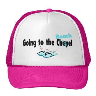 El ir a la capilla (playa) (flip-flop) gorras de camionero