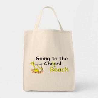 El ir a la playa (cubo) bolsas lienzo