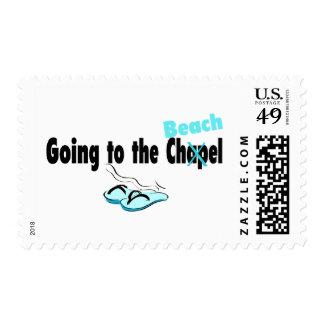 El ir a la playa estampilla