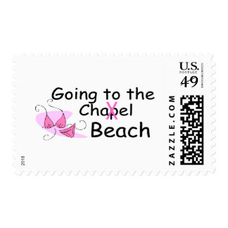 El ir a la playa (traje de baño) sello postal