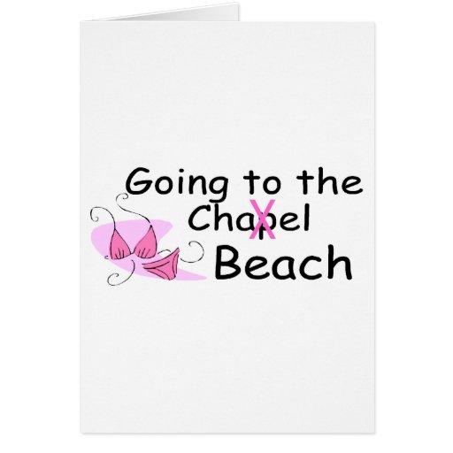 El ir a la playa (traje de baño) tarjeta