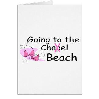 El ir a la playa (traje de baño) tarjeta de felicitación