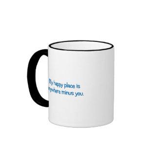 El ir a mi lugar feliz taza de café