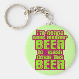 El ir a necesitar otra cerveza llavero