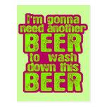 El ir a necesitar otra cerveza tarjetas postales