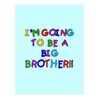 El ir a ser camisetas y regalos de hermano mayor postal