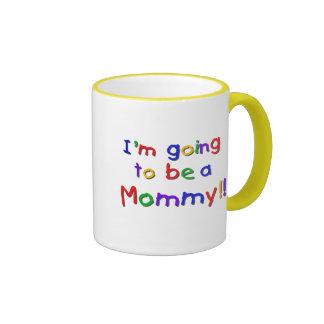 El ir a ser colores primarios de una mamá taza de dos colores