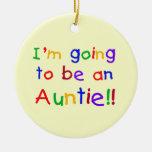 El ir a ser regalos de una tía colores primarios ornamento para arbol de navidad