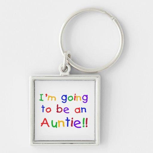El ir a ser regalos de una tía colores primarios llavero personalizado