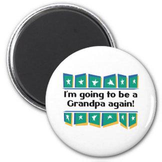 ¡El ir a ser un abuelo otra vez! Imán Redondo 5 Cm