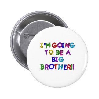 El ir a ser un hermano mayor pin redondo 5 cm