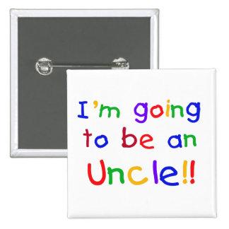El ir a ser un texto del tío colores primarios pin cuadrada 5 cm