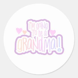 El ir a ser una abuela pegatina redonda