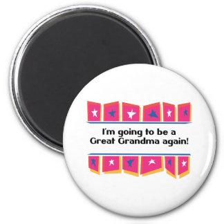 ¡El ir a ser una gran abuela otra vez! Imán Redondo 5 Cm