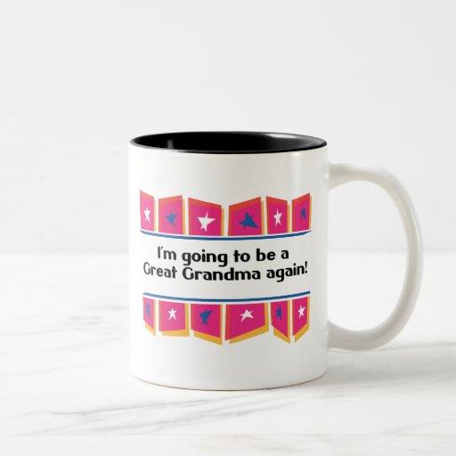 ¡El ir a ser una gran abuela otra vez! Taza De Café De Dos Colores
