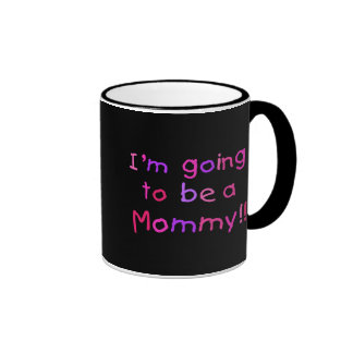 El ir a ser una mamá - rosa y púrpura taza