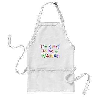 El ir a ser una Nana - camisetas de los colores pr Delantal