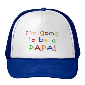 El ir a ser una papá - colores primarios gorras