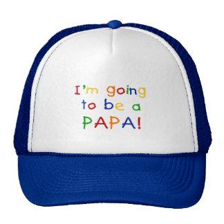 El ir a ser una papá - colores primarios gorros bordados