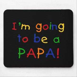 El ir a ser una papá - colores primarios alfombrilla de raton